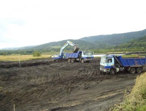 Výstavba akumulační nádrže na odkališti Ušák