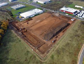 KSE factory - 2 Construction project, průmyslová zóna Královský vrch, Kadaň